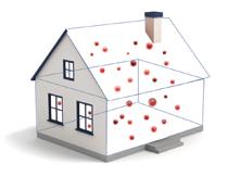 Die anderen 90% verleben wir in Innenräumen, deren Luft eine größere Konzentration von biologischen Schadstoffen enthält, die wir mit bloßem Auge nicht sehen.