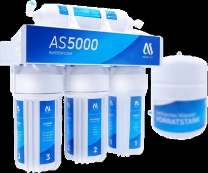 AQUASAFE AS5000 5-Stufige Umkehrosmose-Anlage AS5