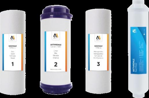 AQUASAFE Ersatzfilter Set für AS5000 mit Aktivkohle