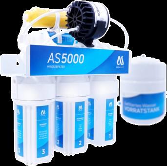 AQUASAFE AS5000-PP 6-stufige Umkehrosmose-Anlage mit Permeatpumpe und Tank