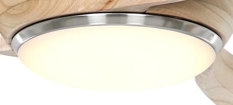Leuchte PR-LED BN für Deckenventilator Eco Regento und Eco Pallas
