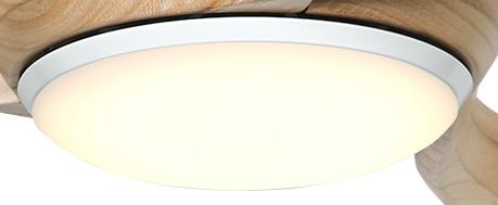Leuchte PR-LED WE für Deckenventilator Eco Regento und Eco Pallas