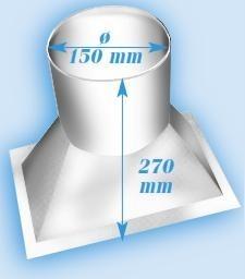 Brune B500 - Aufsatzhutze in weiß
