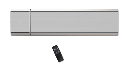 Infrarotheizung Dunkelstrahler 3200W PLUS/D Silber