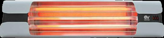 Infrarot Heizstrahler Thermologika Design lichtgrau poliert
