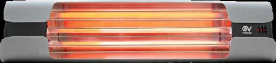 Infrarot Heizstrahler Thermologika Design mittelgrau poliert
